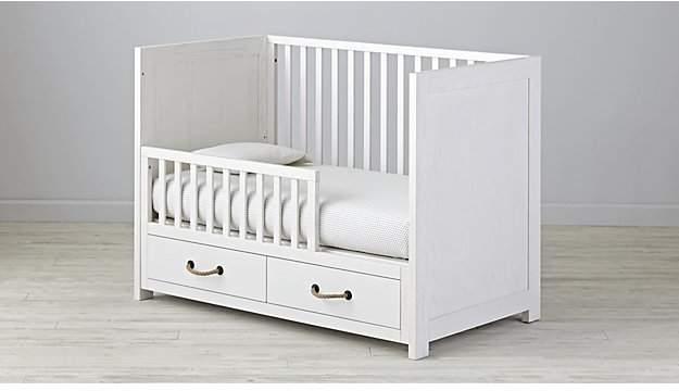 Topside White Glaze Toddler Rail