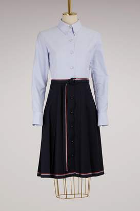 Thom Browne Belted Cotton Skirt
