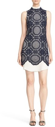 Tracy Reese Tracy Resse Crochet Lace Mock Neck Dress $348 thestylecure.com