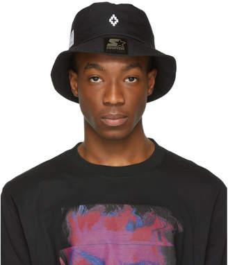 Marcelo Burlon County of Milan Black Starter Edition Label Bucket Hat