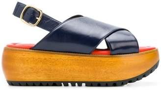 Marni cross-over platform sandals