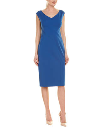 Lafayette 148 New York Open V-Neck Sheath Dress