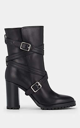 Gianvito Rossi Women's Maren Leather Ankle Boots - Black