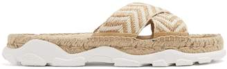 Stella McCartney Woven-rope espadrille slides