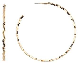 Free Press Zigzag 70mm Hoop Earrings