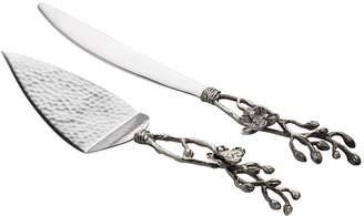 Michael Aram White Orchid Wedding Cake Knife & Server Set