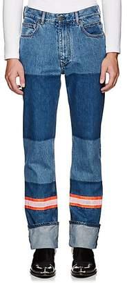 Calvin Klein Men's Reflective-Tape-Trimmed Jeans - Blue