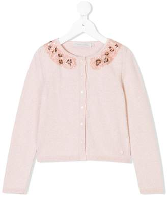 Christian Dior sequinned collar cardigan