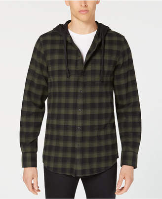 American Rag Men's Hooded Marlen Plaid Shirt