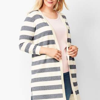 Talbots Marled-Stripe Pima Cotton Duster