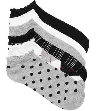 Kelly & Katie Dot Ankle Socks - 6 Pack - Women's