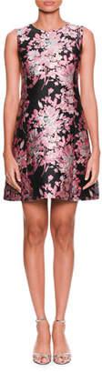 Dolce & Gabbana Sleeveless Floral-Jacquard A-Line Cocktail Dress