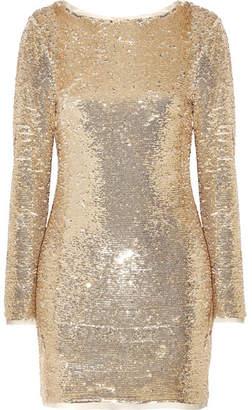 Rachel Zoe Racko Open-back Sequined Cady Mini Dress - Gold