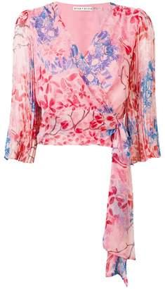 Alice + Olivia Alice+Olivia sash floral blouse