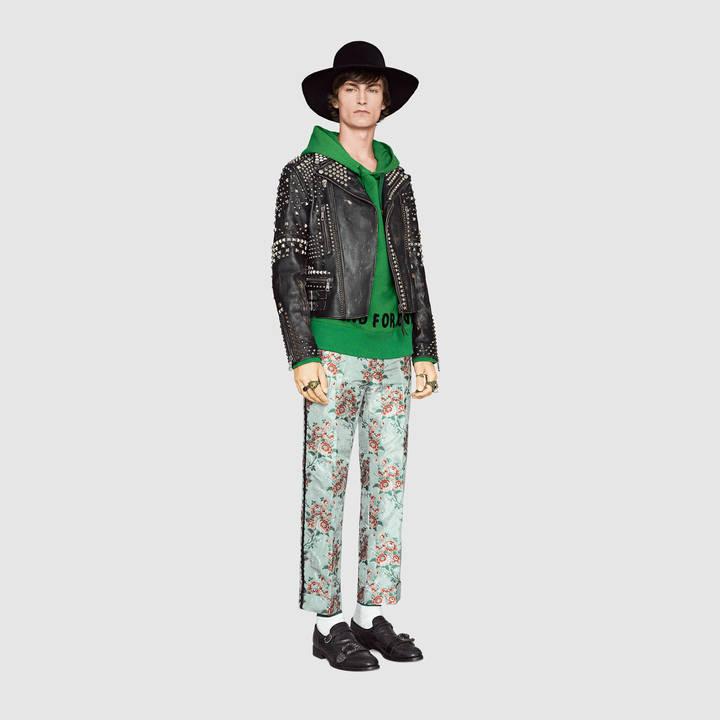 Studded leather biker jacket 4