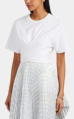 Cédric Charlier Women's Tie-Waist Cotton Jersey T-Shirt - White