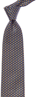 Ermenegildo Zegna Blue & Yellow Silk Tie