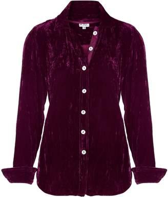 At Last... - Karen Silk Velvet Shirt Fuchsia