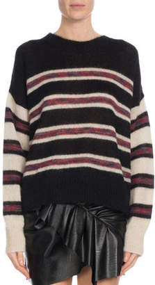 Etoile Isabel Marant Russell Striped Mohair Pullover Sweater