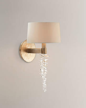"John-Richard Collection Cascading Crystal Waterfall 14"" Sconce"