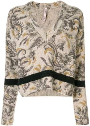 Antonio Marras floral V-neck jumper