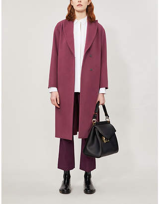 Brunello Cucinelli Belted wool-blend coat