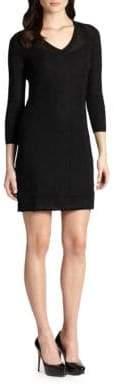 M Missoni Women's Three-Quarter-Sleeve Knit Dress - Black - Size 42 (6)
