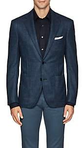 Luciano Barbera Men's Wool-Cashmere Two-Button Sportcoat-Blue