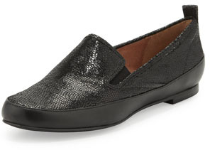 Rachel Zoe Lincoln Leather Slip-On, Black