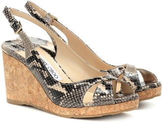Jimmy Choo Amely 80 platform wedge sandals