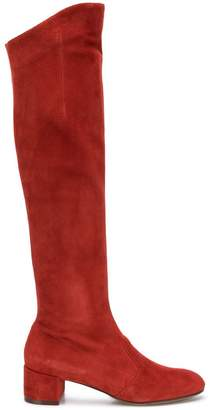 L'Autre Chose knee high suede boots