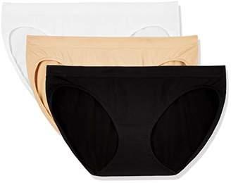 Layla's Celebrity 3 Pack Women's Seamless Bikini Nylon Spandex Underwear