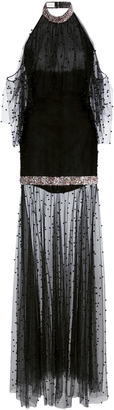 Sandra Mansour M'O Exclusive Halter Flutter Dress