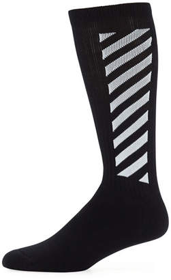 Off-White Men's Wing Off Diagonal Socks
