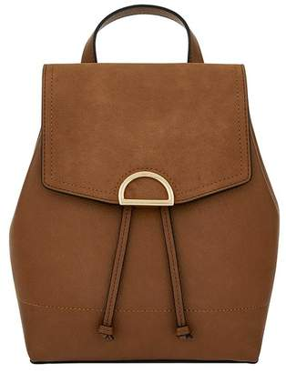 Accessorize Womens Tan Kim Backpack - Brown