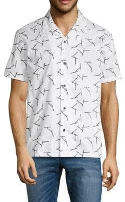 Tavik Printed Cotton Button-Down Shirt