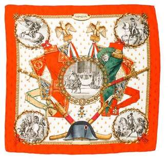 Hermes Napolèon Silk Jacquard Scarf