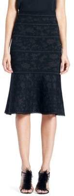Carolina Herrera Jacquard Trumpet Knit Skirt