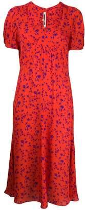 McQ floral print midi dress