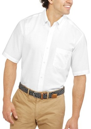 George Men's and Big Men's Short Sleeve Oxford Shirt