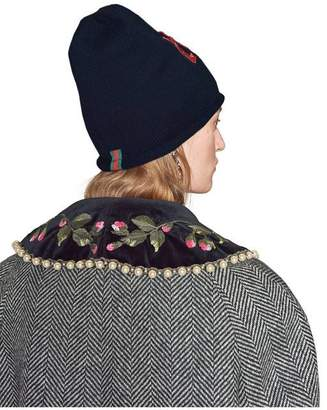Gucci Wool hat with sequin Loved