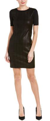 Elie Tahari Emily Leather Shift Dress