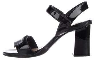 Prada Sport Patent Leather Ankle Strap Sandals
