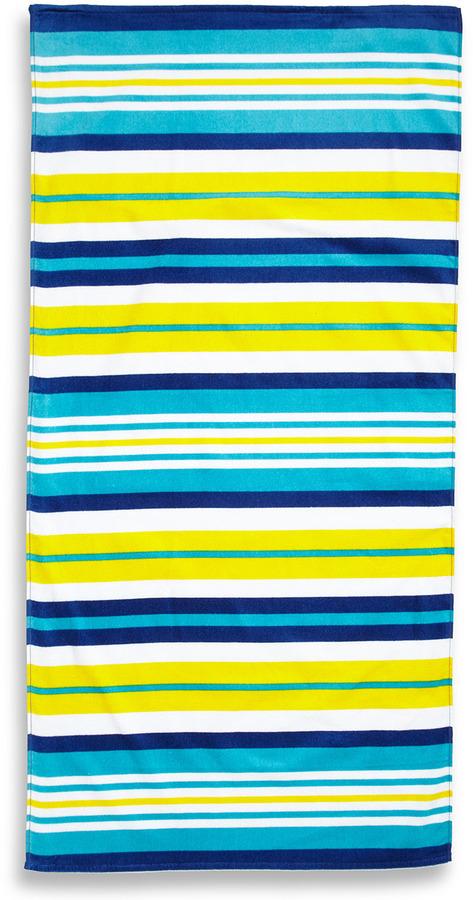 Missoni Home Blue Horizontal Stripes Beach Towel