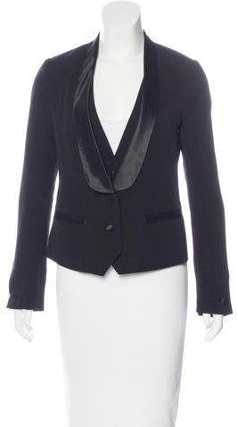 Tory BurchTory Burch Satin-Accented Wool Blazer
