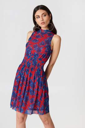 Na Kd Trend Mesh Smock Dress