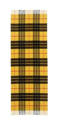 Johnstons of Elgin Fringe tartan plaid cashmere scarf