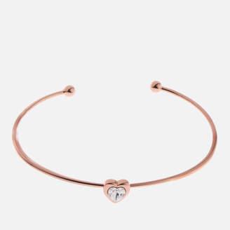 Ted Baker Women's Hasina: Swarovski Crystal Heart Ultra Fine Cuff - Rose Gold/Crystal