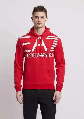 Emporio Armani Sweatshirt In Pure Cotton With Ea7 Maxi Logo