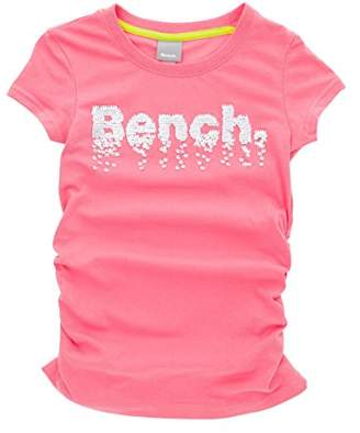 Bench Girl's Sequin Corp Tee T-Shirt,(Manufacturer Size: 5-6)